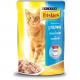 Консервований корм - Консервований корм для котів з лососем, шматочки в підливці