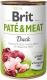 Консервированный корм - Pate & Meat Dog с уткой