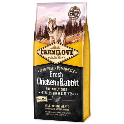 Сухий корм - Fresh Chicken & Rabbit сухий корм із куркою та кроликом для дорослих собак усіх порід.