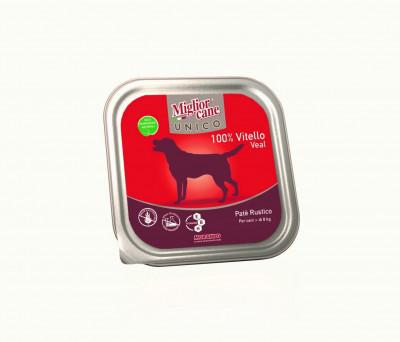 Консервований корм - MigliorCane Unico only Veal для собак, з телятиною