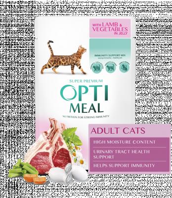 Консервированный корм - Влажный корм для взрослых кошек с ягненком и овощами