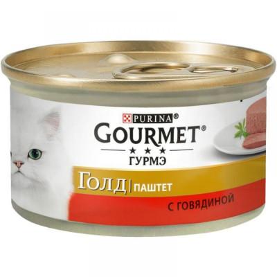 Консервированный корм - Gold Паштет с говядиной