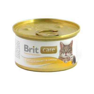 Для котов - Cat влажный корм на основе куриного филе с добавлением сыра