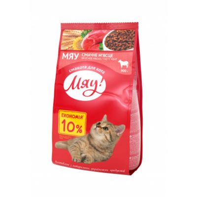 Сухой корм - Сухой корм для взрослых кошек с мясом