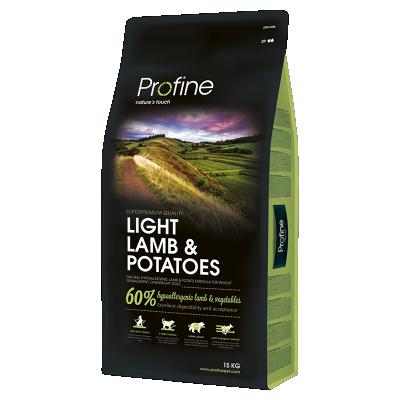 Сухий корм - Dog Light Lamb & Potatoes Сухий корм для дорослих собак всіх порід, схильних до набору зайвої ваги