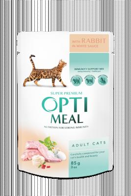 Консервированный корм - Adult Cats Rabbit in White sauce Влажный корм для взрослых кошек с кроликом в белом соусе