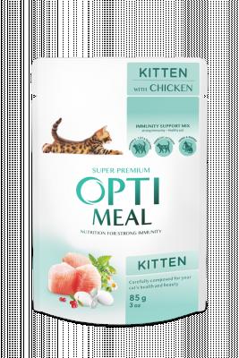 Консервированный корм - Kitten Chicken Влажный корм для котят - курица