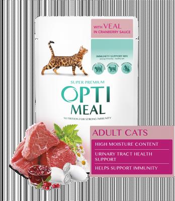 Консервированный корм - Adult Cats Veal in Cranberry sauce Влажный корм для взрослых кошек с телятиной в клюквенный соусе