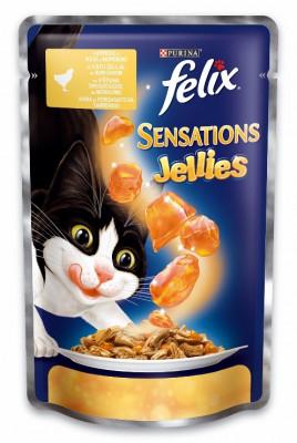 Консервований корм - Sensations Jellies з куркою та морквою в желе