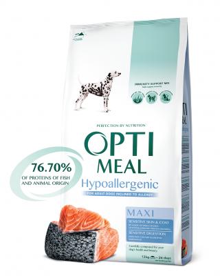 Сухий корм - Гіпоалергенний сухий корм для дорослих собак великих порід — лосось
