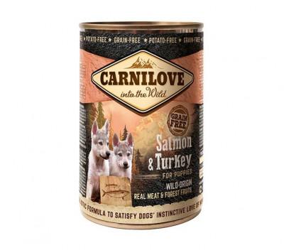 Консервований корм - Grain Free Puppy з лососем та індичкою