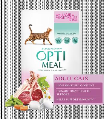 Консервированный корм - Adult Cats Lamb & Vegetables Влажный корм для взрослых кошек с ягненком и овощами