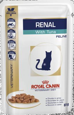 Консервированный корм - Renal Feline Tuna Pouches