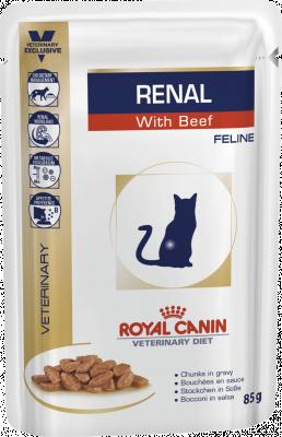 Консервований корм - Renal Feline Beef Pouches