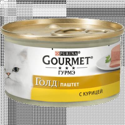 Консервированный корм - Gold Паштет с курицей