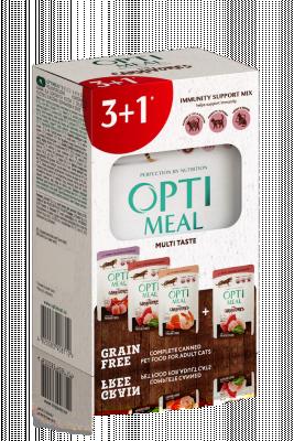 """Консервированный корм - Набор """"Grain Free Multi Taste Беззерновий влажный корм для котов"""" (3+1)"""
