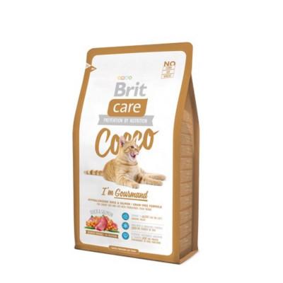 Сухой корм - Гипоаллергенный беззерновий корм для кошек с чувствительным пищеварением - утка и лосось