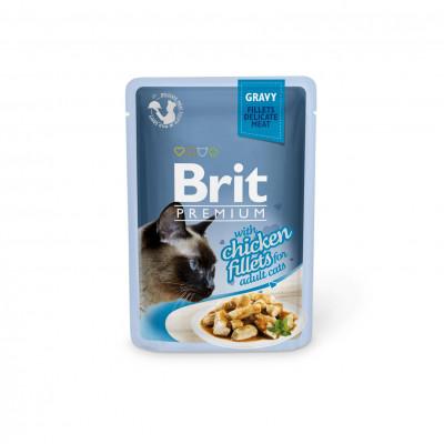 Для котов - Куриное филе в соусе для кошек
