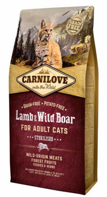 Для котів - Cat Lamb & Wild Boar Сухий корм для стерилізованих кішок і кастрованих котів
