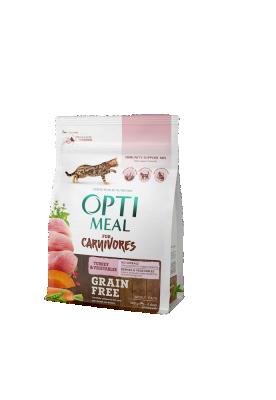 Сухой корм - Adult Cat Grain Free Turkey & Vegetables Беззерновой сухой корм для взрослых кошек - индейка и овощи