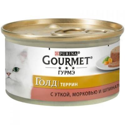 Консервований корм - Gold Террін з качкою, морквою та шпинатом
