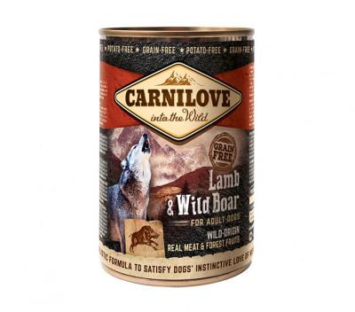 Консервований корм - Grain Free Dog Adult з ягням і кабаном
