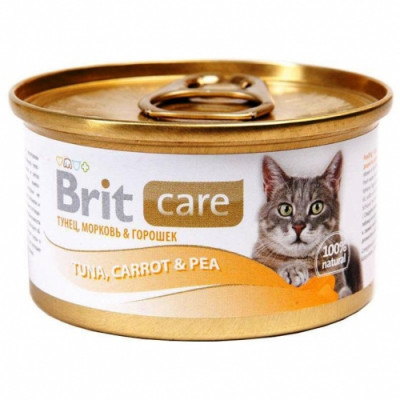 Консервированный корм - Cat влажный корм на основе сочного мяса тунца с добавлением моркови и зеленого горошка