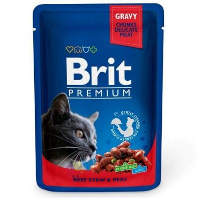 Для котів - Рагу з тушкованої яловичини з зеленим горошком для котів