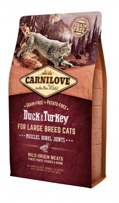 Сухий корм - Cat Duck & Turkey Сухий корм для котів великих порід