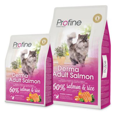 Для котів - Derma сухий корм з лососем для дорослих довгошерстих котів