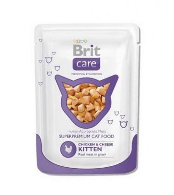 Для котів - Cat pouch Шматочки з куркою та сиром в соусі для кошенят