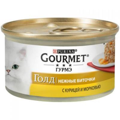 Консервированный корм - Gold Нежные биточки с курицей и морковью