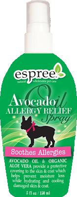 Для собак - Avocado Oil Allergy Relief Spray  Спрей з маслом авокадо сприяє видаленню алергенів