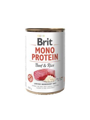 Консервированный корм - Mono Protein Dog с говядиной и рисом