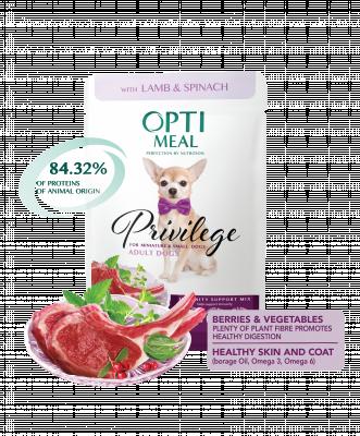 Консервированный корм - Влажный корм для взрослых собак миниатюрных и малых пород с ягнятиной и шпинатом в соусе