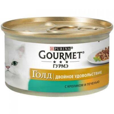 Консервированный корм - Gold Двойное удовольствие с кроликом и печенкой